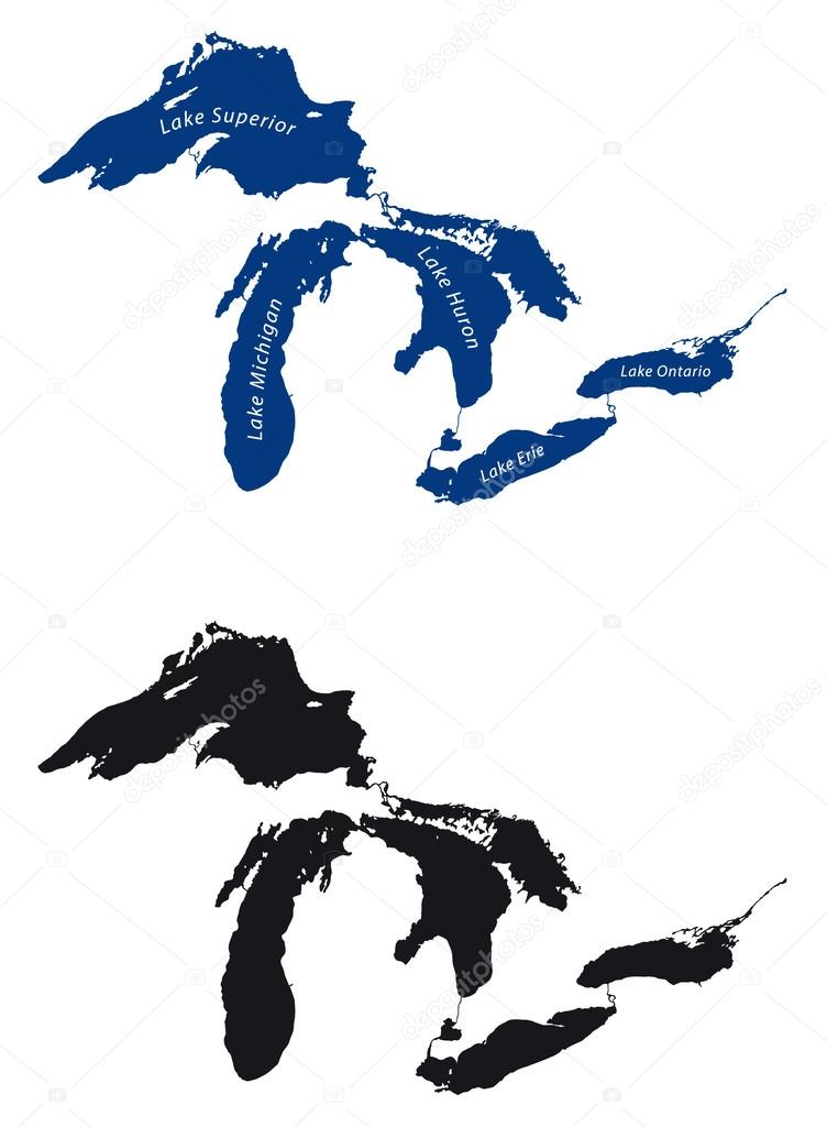 Great lakes clipart jpg transparent library Download great lakes map black and white clipart Lake Michigan Lake ... jpg transparent library