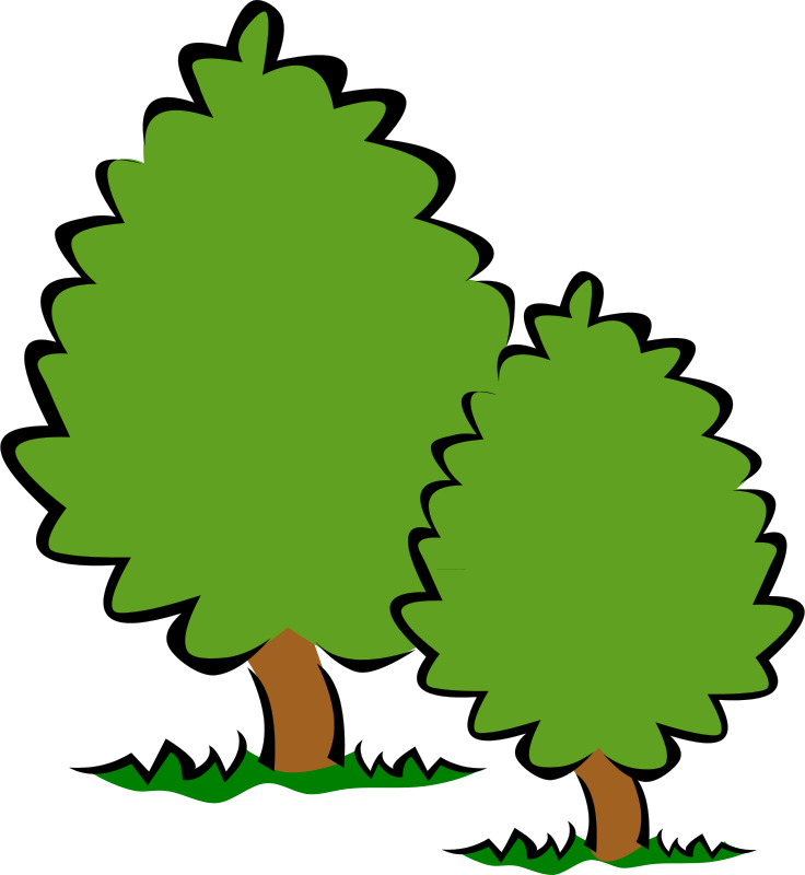 Great tree small and the small tree great clipart download Free Clipart: Small Trees / Bushes | Gerald_G download