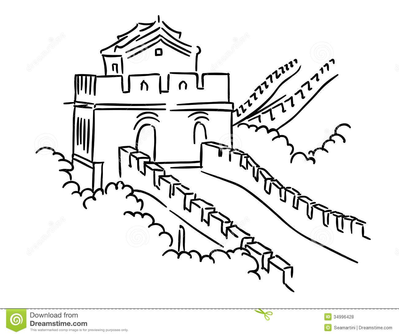 Great wall of china black and white clipart clipart library library CLIPART WALLPAPER BLINK - Great Wall Of China Clipart cartoon 26 ... clipart library library