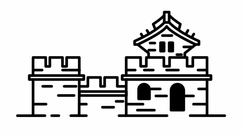 Great wall of china black and white clipart graphic transparent library File Great Wall Mark Svg Wikipedia - Clip Art Library graphic transparent library