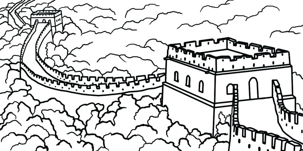 Great wall of china clipart black and white clip transparent library Great Wall Of China Sketch at PaintingValley.com | Explore ... clip transparent library