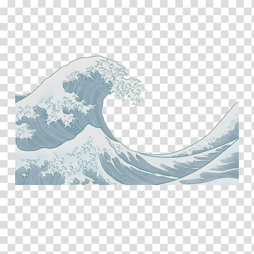 Great wave clipart clipart free library The Great Wave off Kanagawa Japanese art Painting, japan transparent ... clipart free library