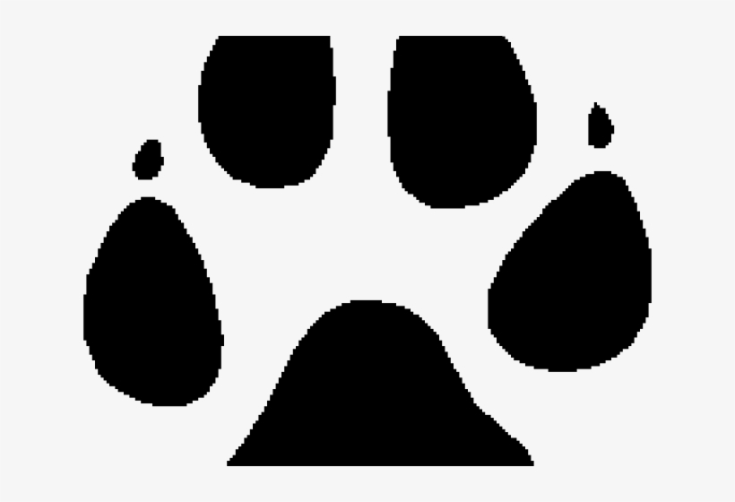 Great wolf lodge clipart black and white graphic library download Paw,Font,Clip art,Black-and-white #4337233 - Free Png Library graphic library download