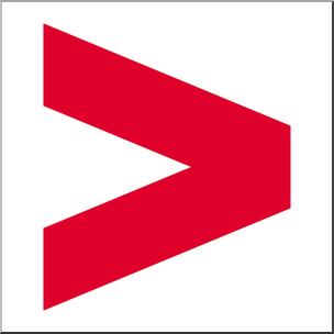 Greater clipart vector transparent stock Clip Art: Math Symbols: Greater Than Sign Color I abcteach.com ... vector transparent stock