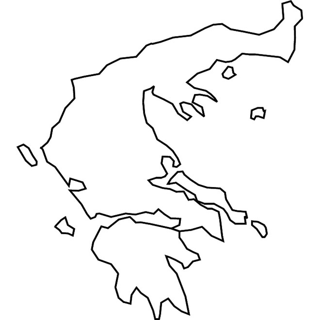 Greece map clipart banner black and white Greece outline vector map - Free vector image in AI and EPS format. banner black and white