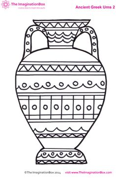 Greek art clipart graphic library library Outline Greek Amphora Clip Art at Clker.com - vector clip art ... graphic library library