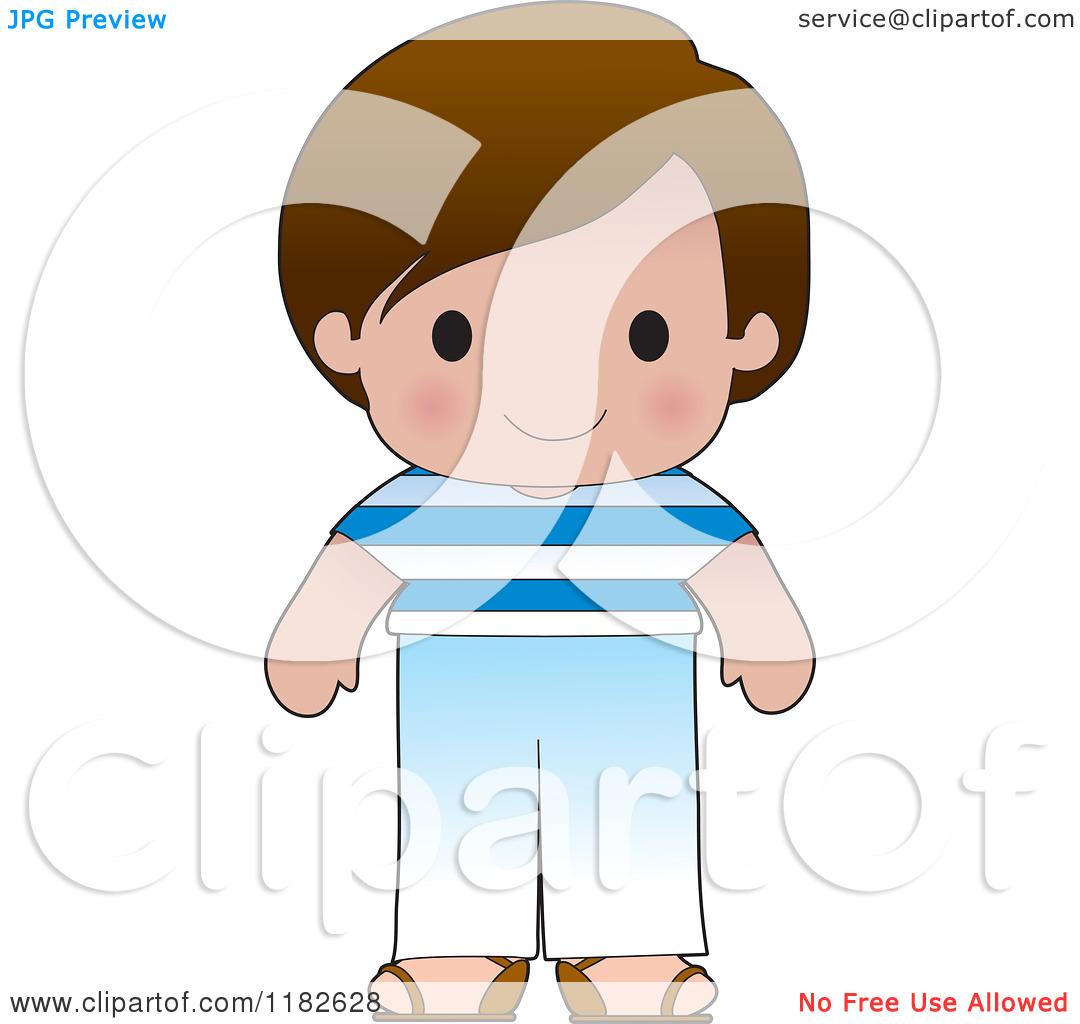 Greek boy clipart banner freeuse Cartoon of a Happy Patriotic Boy Wearing Greek Flag Clothing ... banner freeuse