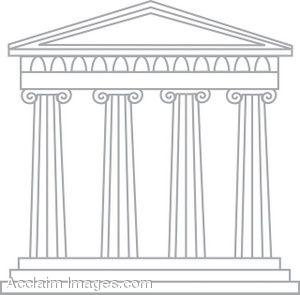 Greek building clipart