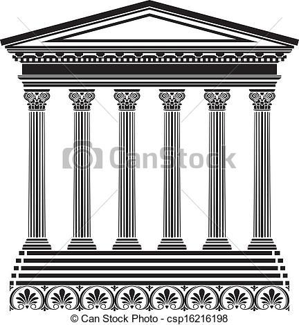 Greek building clipart jpg transparent EPS Vectors of Greek temple stencil csp16216198 - Search Clip Art ... jpg transparent