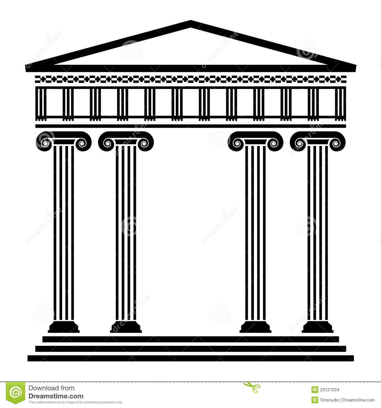 Greek building clipart vector royalty free library Greek architecture clipart - ClipartFest vector royalty free library
