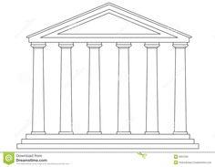 Greek building clipart svg black and white Ancient Greek Philosophers clip art | Colors, Color black and Clip art svg black and white
