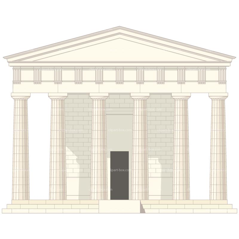 Greek building clipart picture freeuse library Greek Buildings Clipart - Clipart Kid picture freeuse library