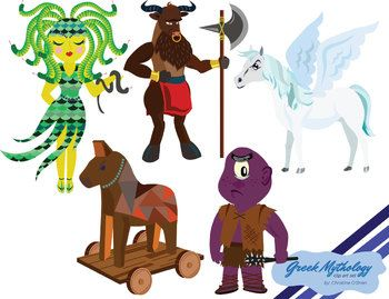 Greek character clipart image library library Greek Mythology Characters Clip Art | Greek mythology, Graphics ... image library library