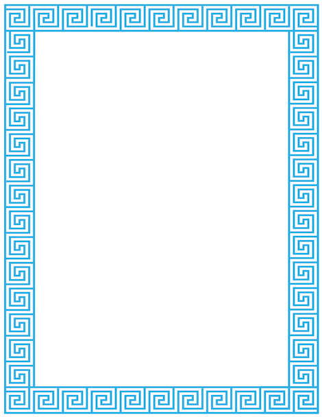 Greek clipart borders picture transparent library Pin by Muse Printables on Page Borders and Border Clip Art | Greece ... picture transparent library