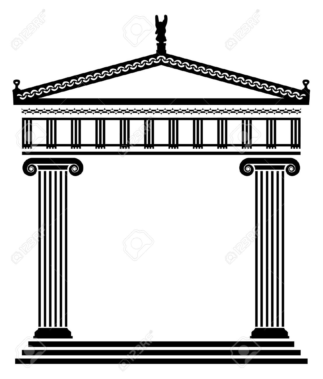 Greek columns clipart banner transparent stock Free Greek Temple Cliparts, Download Free Clip Art, Free Clip Art on ... banner transparent stock