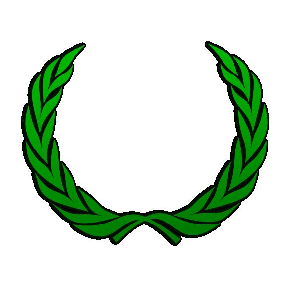 Greek crown clipart graphic royalty free Green Wreath Clip Art at Clker.com - vector clip art online, royalty ... graphic royalty free