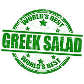 Greek food clipart clipart transparent library Clipart of Greek salad stamp k13650924 - Search Clip Art ... clipart transparent library