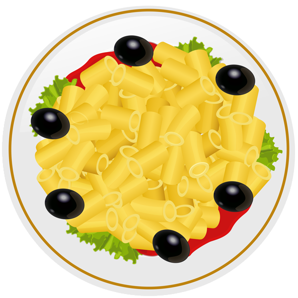 Greek food clipart black and white library Pasta Plate PNG Clip Art Image   Gallery Yopriceville - High ... black and white library