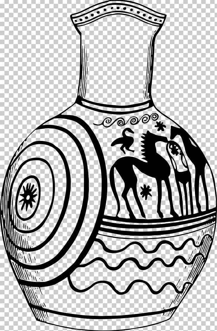 Greek food clipart black and white sketch svg transparent library Black And White Line Art Vase Drawing Ancient Greek Art PNG, Clipart ... svg transparent library