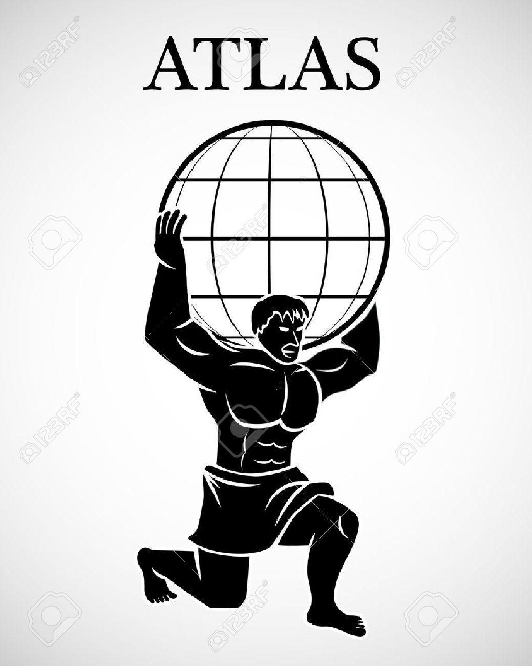 Greek god atlas clipart svg royalty free Stylized Atlas Royalty Free Cliparts, Vectors, And Stock ... svg royalty free