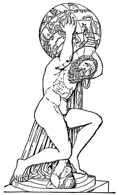 Greek god atlas clipart clip art library stock Greek atlas clipart - ClipartFest clip art library stock