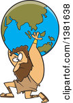 Greek god atlas clipart clipart free stock Clipart of a Cartoon Black and White Greek God, Atlas, Carrying ... clipart free stock