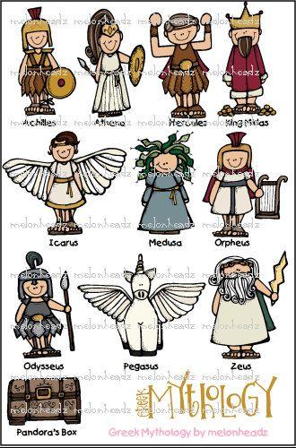 Greek god cliparts picture transparent stock Greek Mythology clip art | Reading Olympian | Greek mythology, Greek ... picture transparent stock