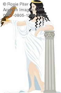 Greek goddess clipart banner royalty free download Clipart Illustration of a Greek Goddess Holding a Hawk - Acclaim ... banner royalty free download