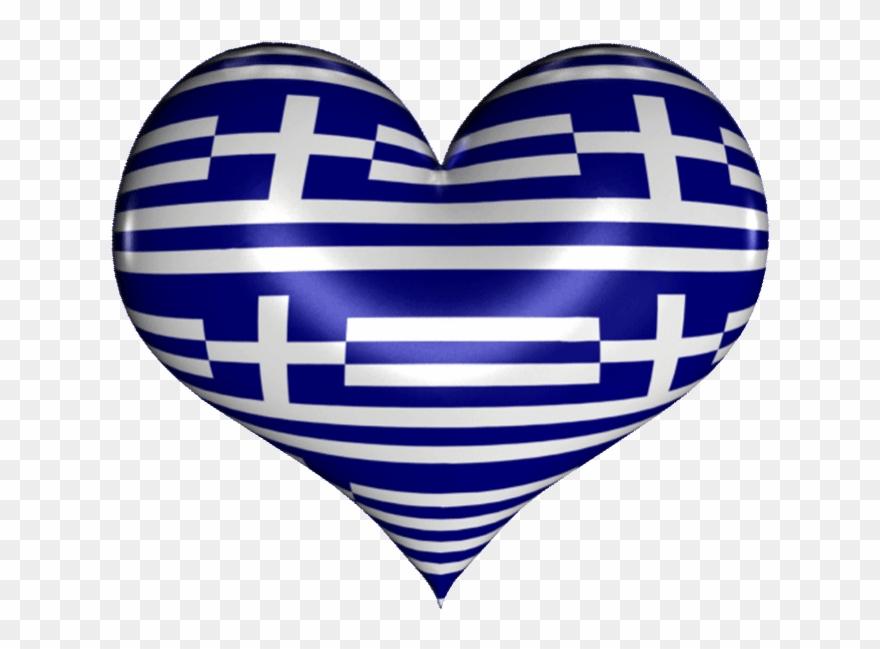 Greek heart clipart jpg black and white Heart Gif - Greek Flag Heart Gif Clipart - Clipart Png Download ... jpg black and white