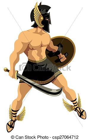 Greek hero clipart svg stock Vector Clip Art of Perseus on White - The Greek hero Perseus. No ... svg stock