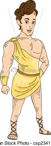 Greek hero clipart free stock Clipart Vector of Greek God - Illustration Featuring a Young and ... free stock