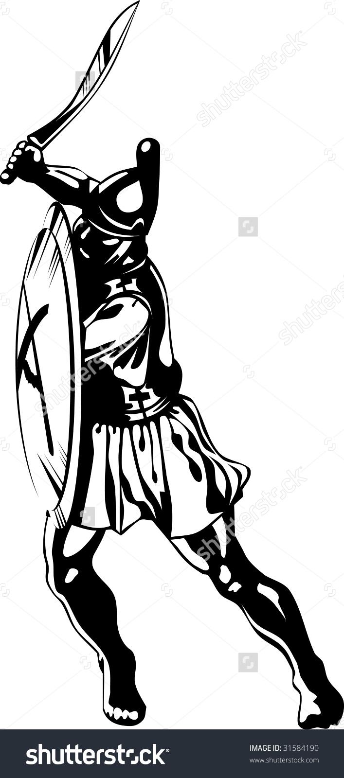 Greek hero clipart banner transparent Vector Art Of Ancient Greek Hero Black And White - 31584190 ... banner transparent