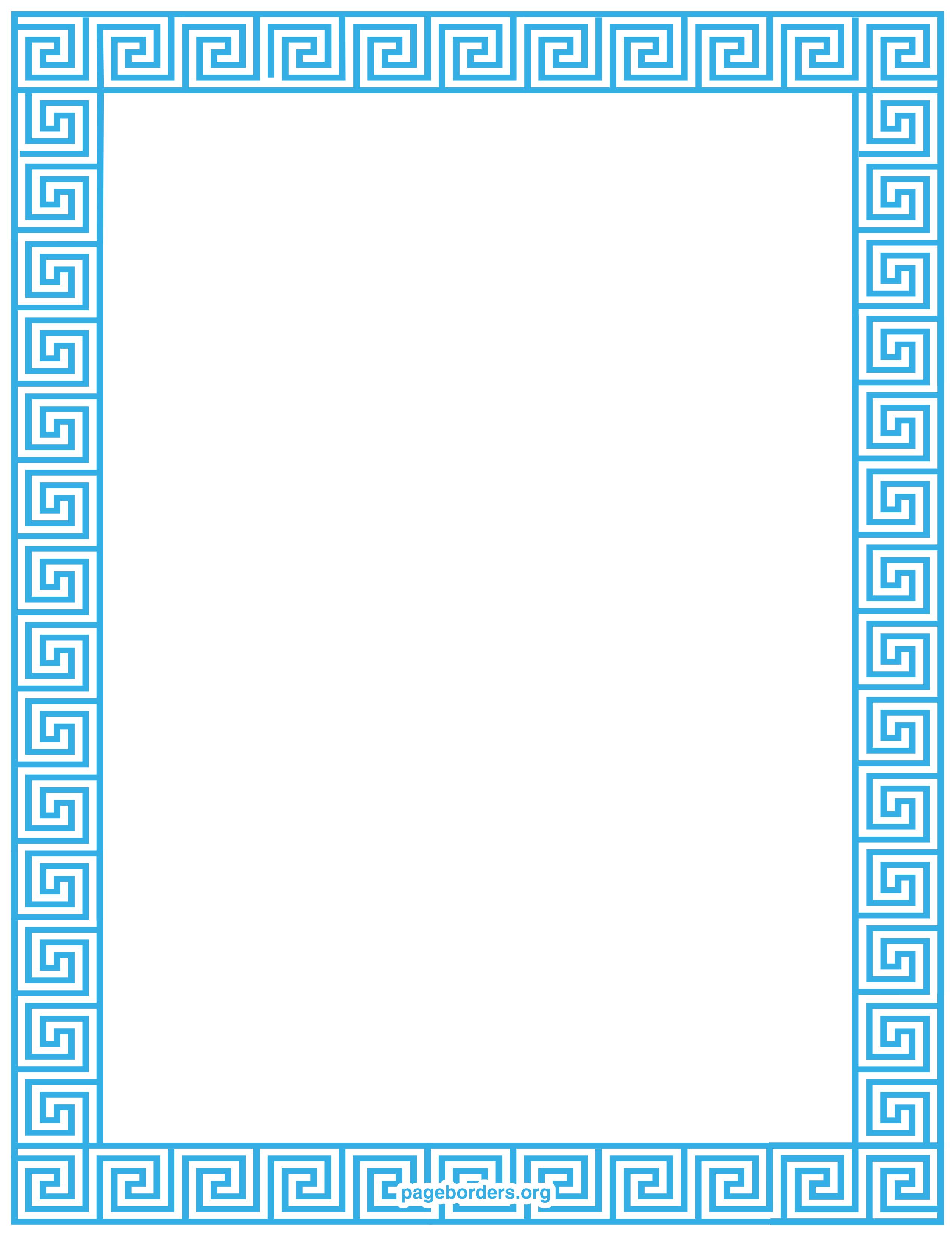 Greek key border clipart svg transparent stock Greek key border clip art - ClipartFest svg transparent stock
