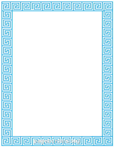 Greek key border clipart clip black and white stock Greek Key Border: Clip Art, Page Border, and Vector Graphics clip black and white stock
