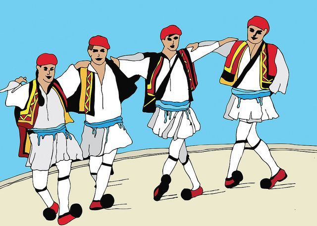 Greek kids dancing clipart banner free download 17 Best images about Traditionally Greek : Dance & Dress on ... banner free download