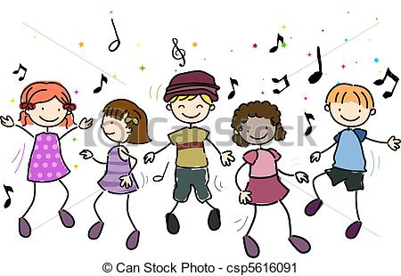 Greek kids dancing clipart clip freeuse download Clipart of Kids Dancing - Illustration of Kids Dancing Along to ... clip freeuse download