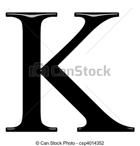 Greek letter clipart clip free download Clip Art of 3D Greek Letter Kappa - 3d Greek letter Kappa isolated ... clip free download