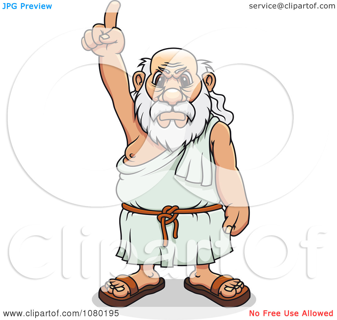 Greek man clipart image library library Clipart Mad Greek Man Pointing Upwards - Royalty Free Vector ... image library library