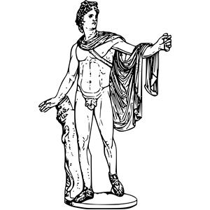 Greek myth png clipart clip art black and white Apollo clipart, cliparts of Apollo free download (wmf, eps, emf ... clip art black and white