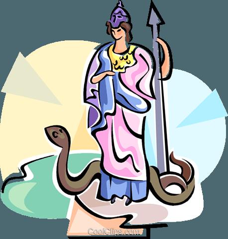 Greek myth png clipart jpg free stock Greek Mythology Athena Royalty Free Vector Clip Art illustration ... jpg free stock