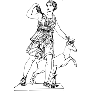 Greek myth png clipart vector library stock Artemis clipart, cliparts of Artemis free download (wmf, eps, emf ... vector library stock