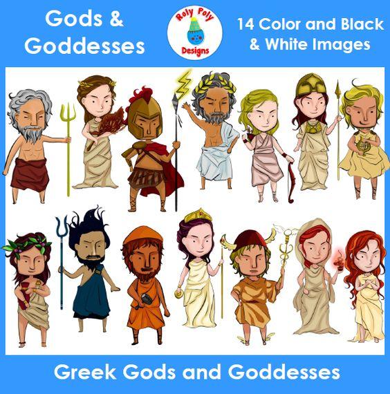 Greek mythology gods clipart svg transparent library Greek Gods and Goddesses Clip Art Set | Goddesses, Gods and ... svg transparent library