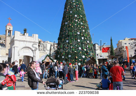 Greek orthodox christmas clipart image library download Nazareth, Israel - December 21: People Celebrate The Christmas ... image library download