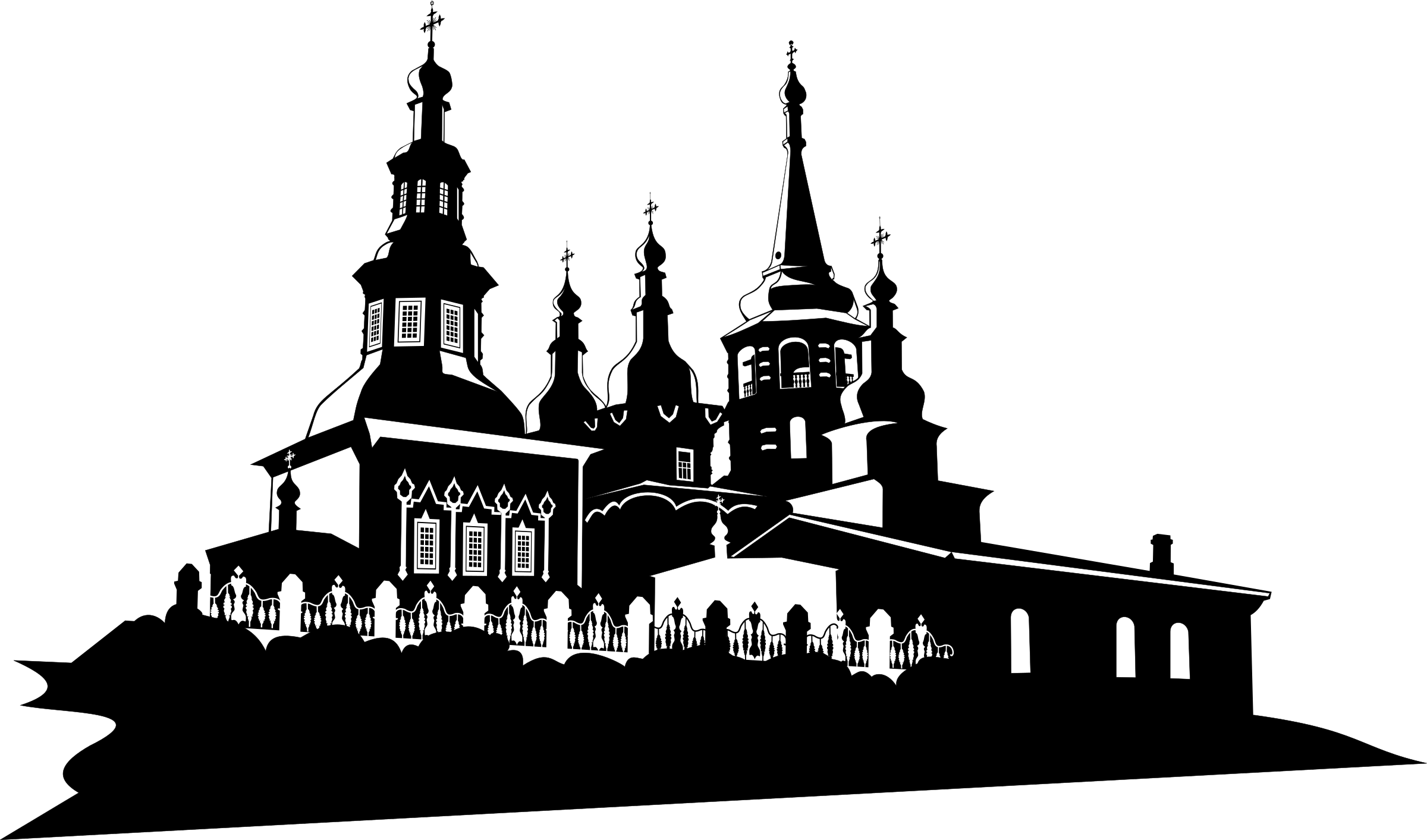Russian orthodox cross border clipart svg transparent download Clipart - Orthodox Chirch in Irkutsk 1 svg transparent download