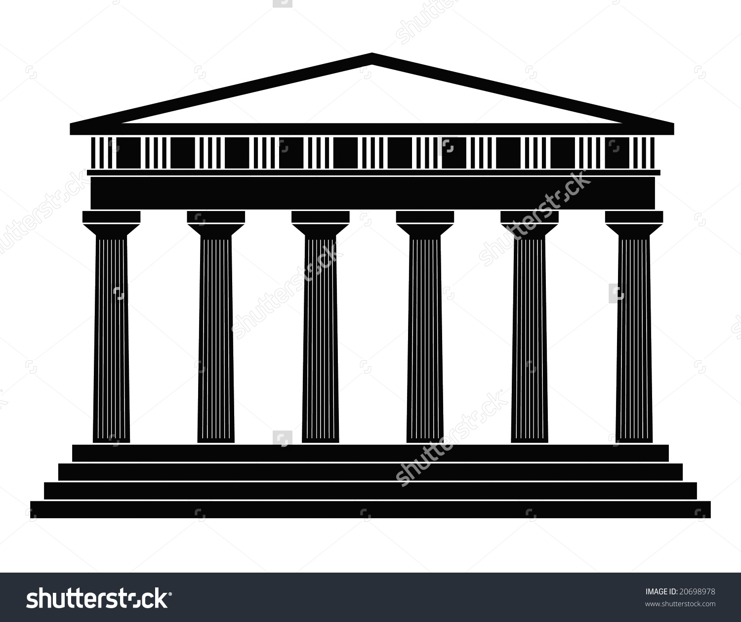 Greek shrine clipart clip free library Greek Temple Stock Vector 20698978 - Shutterstock clip free library