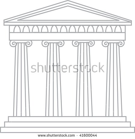 Greek shrine clipart picture free download Clip Art Illustration Of A Grecian Temple - 41600044 : Shutterstock picture free download