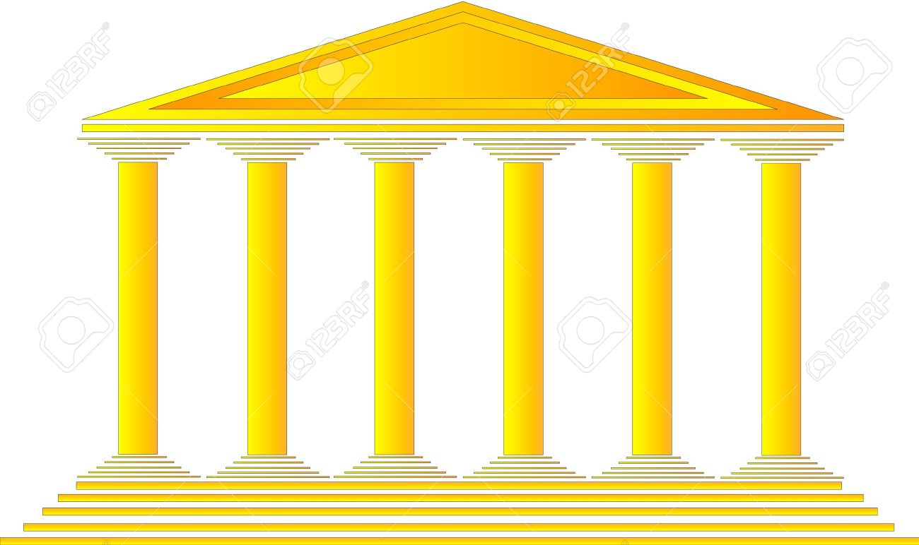 Greek shrine clipart graphic library download Greek Temple On White Background - Illustration For Design Royalty ... graphic library download
