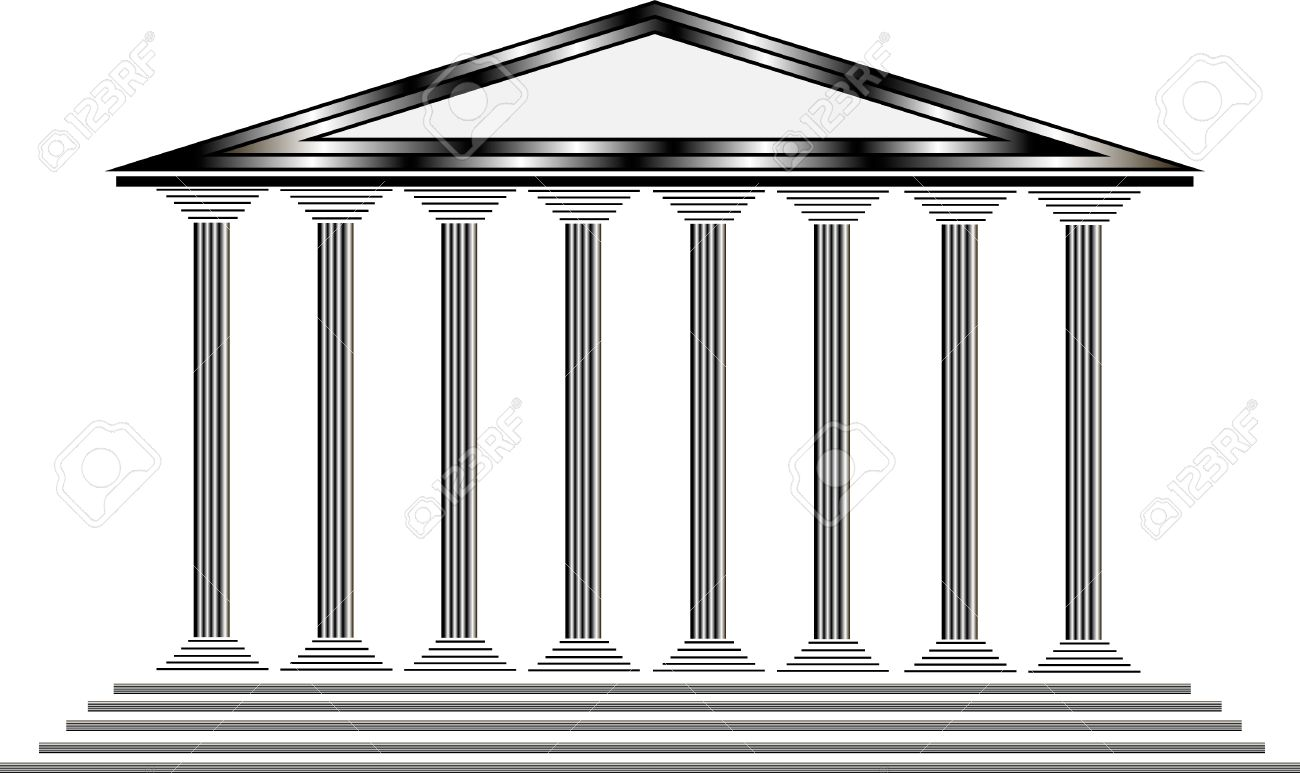 Greek shrine clipart clip free library Greek Temple On White Background - Illustration For Design Royalty ... clip free library