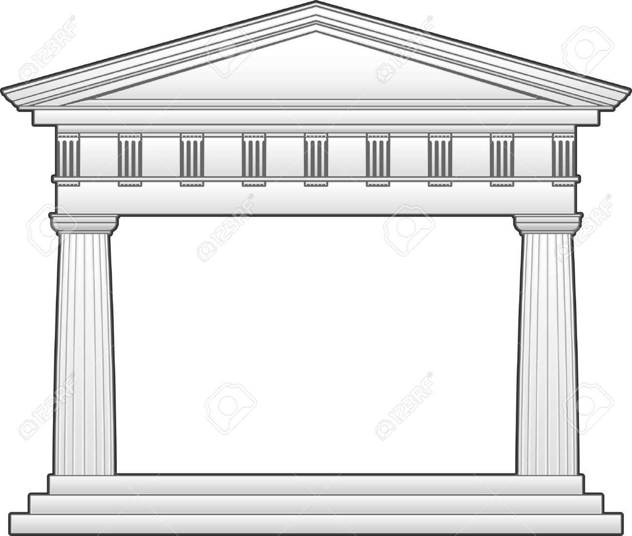 Greek shrine clipart banner library library Greek temple clipart free - ClipartFox banner library library