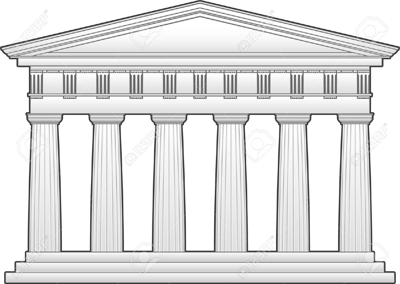 Greek shrine clipart vector free stock Greek Temple, Doric Order Royalty Free Cliparts, Vectors, And ... vector free stock